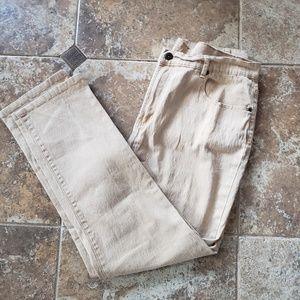 DG2 Womans Tan Denim Jeans SZ 16
